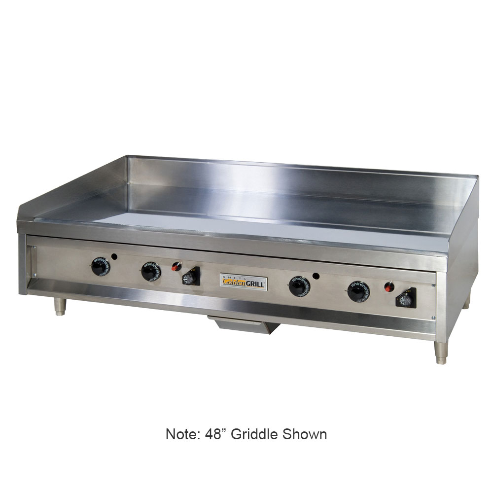 "Anets A24X24 24"" Gas Griddle - Manual, 3/4"" Steel Plate, NG"