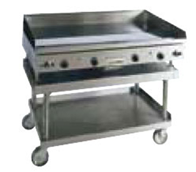 Anets AGS24X72UC Countertop Equipment Stand w/ Open Base & 4-Swivel Casters, 72 x 24 x 25-in