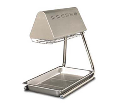 Anets CFWW/O Bulb-Type Food Warmer w/ 2-Heat Lamps, Chrome Plated Stand