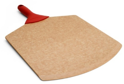"Epicurean 007-21140101EA 21 x 14"" Pizza Peel, Beveled Edge, Natural w/ Red Handle"