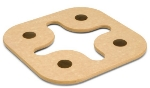 Epicurean 010-30102 8 x 8-in Star Trivet, NSF Recycled Paper, Natural w/ Brown