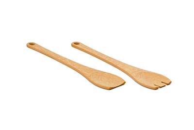 Epicurean 015-SALAD02EA Spoon & Fork Salad Server Set, NSF Recycled Paper, Slate