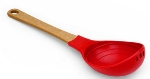 Epicurean 016-0040101 12-4/5-in Ladle, Nonstick Safe, Natural Handle w/ Red Nylon Head