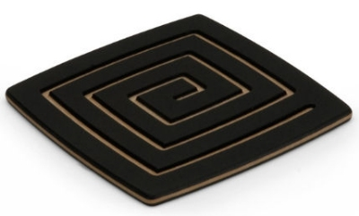 Epicurean 019-04040201 4 x 4-in Coaster, Slate w/ Natural Pin Stripe Side, Hot/ Cold