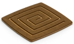 Epicurean 019-04040301 4 x 4-in Coaster, Nutmeg w/ Natural Pin Stripe Side, Hot