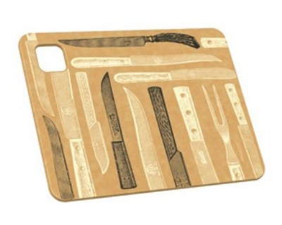 Epicurean 026-080601205 8 x 6-in Cutting Board, NSF Recycled Paper, Knives Pattern