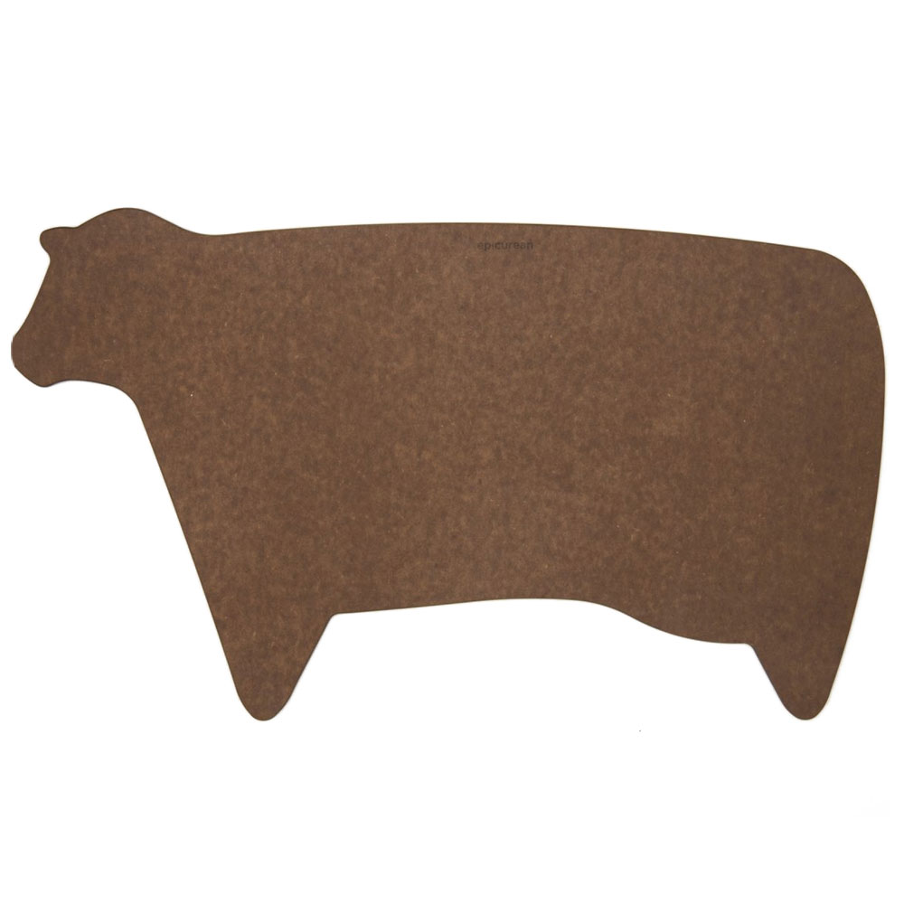 Epicurean 032-COW0301 Modern Cow Cutting Board, .25-in, Nutmeg