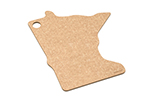 Epicurean 032-MN0102 State Shape Novelty Cutting Board, 12x14-in, Minnesota, Natural/Slate