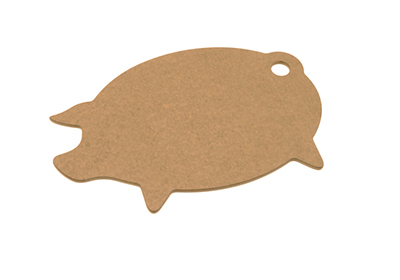 Epicurean 032-PIG0301 Modern Pig Cutting Board, 16x11x.25-in, Nutmeg