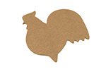 "Epicurean 032-RST0301 Modern Rooster Cutting Board, 15x14x.25"", Nutmeg"