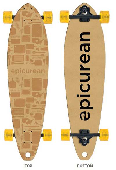 Epicurean 032-SKATE0102 34-in Skateboard Design By Grow Anthology, Natural