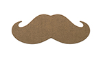 Epicurean 032-STACHE0301 Hipster Mustache Cutting Board, 20x8x.25-in, Nutmeg