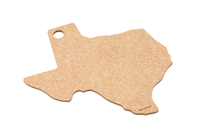 Epicurean 032-TX0102 State Shape Novelty Cutting Board, 12x14-in, Texas, Natural/Slate