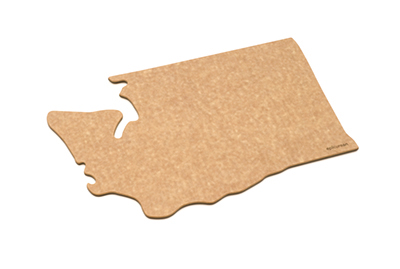 "Epicurean 032-WA0102 State Shape Novelty Cutting Board, 12x14"", Washington, Natural/Slate"