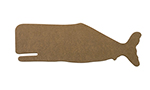 "Epicurean 032-WHALE0301 Hipster Whale Cutting Board, 22x8x.25"", Nutmeg"