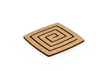 Epicurean 019-04040102-4 Coaster Set w/ 4-Pieces & 4x4-in, Natural/Slate