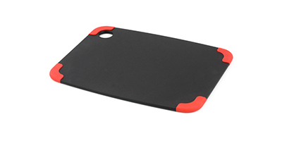 "Epicurean 202-12090201 Non Slip Cutting Board, 11.5x9"", Slate/Red"