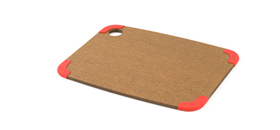 Epicurean 202-12090301 Non Slip Cutting Board, 11.5x9-in, Nutmeg/Red