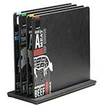 Epicurean 326-141102SET Cutting Board Set w/ Stand & 4-Cutting Boards, Meat/Chicken/Fish/Veggie