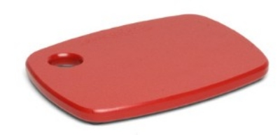 Epicurean 404-080601 Eco Plastic Cutting Board, 8 x 6-in, Red w/ Gripper Feet, Poly