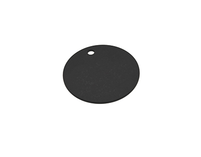 Epicurean 429-000802 8-in Round Pizza Boardw/ .25-in Height, Slate