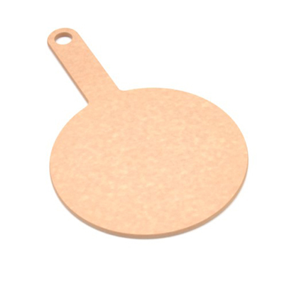 "Epicurean 429-130801 8"" Round Pizza Board w/ 5"" Handle, Natural"
