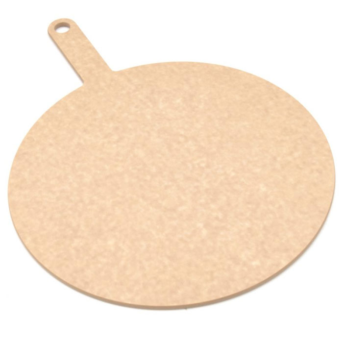 "Epicurean 429-151001 10"" Round Pizza Board w/ 5"" Handle, Natural"