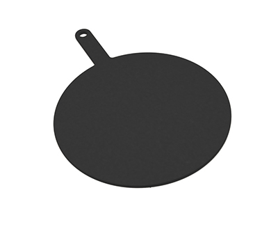 Epicurean 429-191402 14-in Round Pizza Board w/ 5-in Handle, Slate