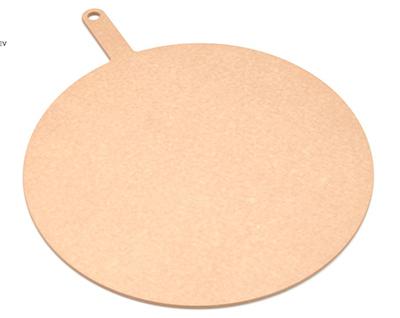 """Epicurean 429-211601 16"""" Round Pizza Board w/ 5"""" Handle, Natural"""