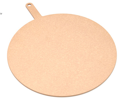 "Epicurean 429-231801 18"" Round Pizza Board w/ 5"" Handle, Natural"