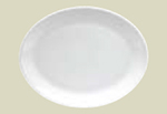 "Oneida F1400000391 15"" Oval Platter w/ Rolled Edge, Tundra, Oneida Collection"