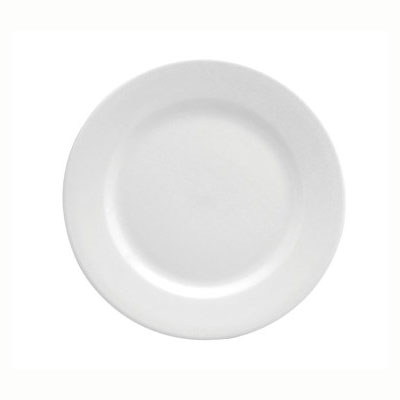 Oneida F8010000117 Bright White Narrow Rim Plate, Buffalo...