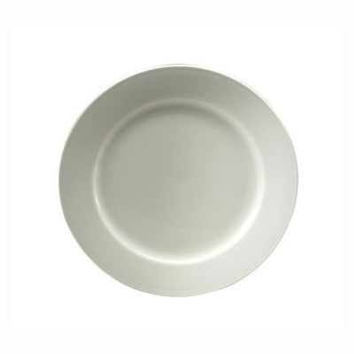 "Oneida R4220000155 11"" Royale Plate - Medium Rim, Porcelain, Bright White"