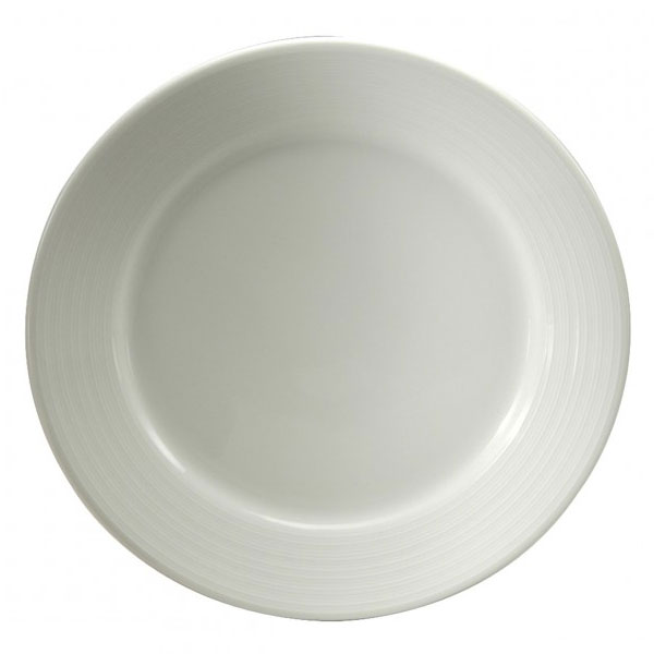 "Oneida R4570000149 10.25"" Botticelli Plate - Porcelain, Bright White"