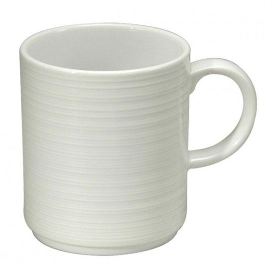 Oneida R4570000572 12-oz Botticelli Mug - Porcelain, Bright White