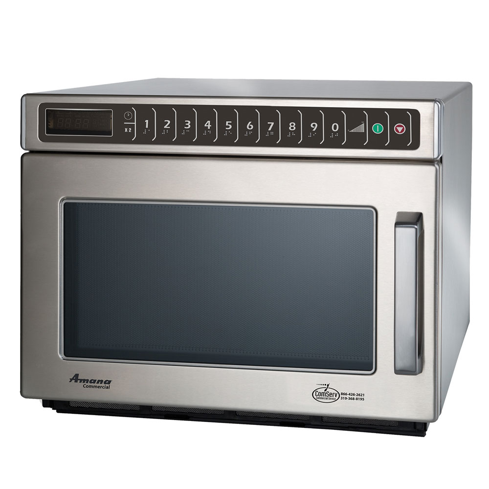 Amana HDC1815 1800w Commercial Microwave w/ Touch Pad, 208-240v/1ph