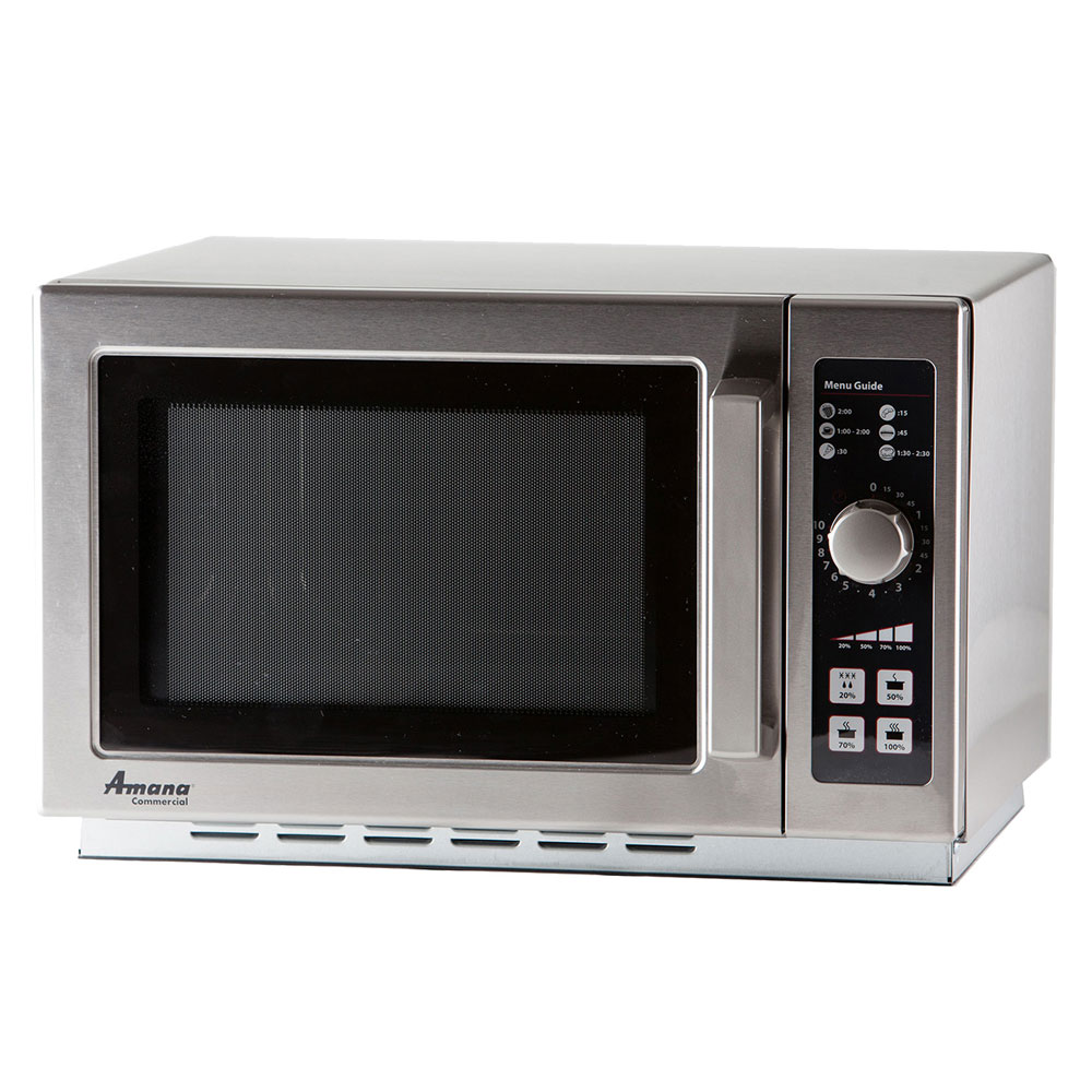 Amana RCS10DSE 1000w Commercial Microwave with Dial Control, 120v