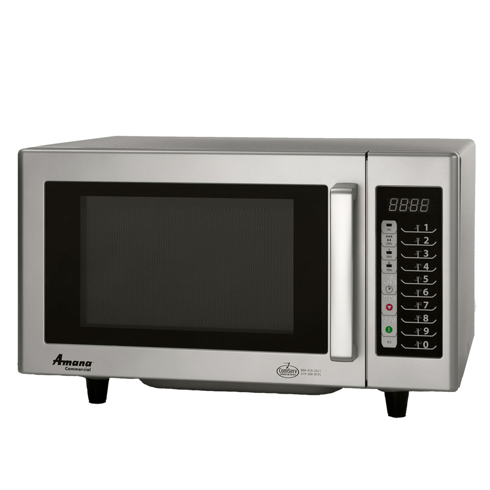 Amana RMS10TS 1000w Commercial Microwave with Touch Pad, 120v