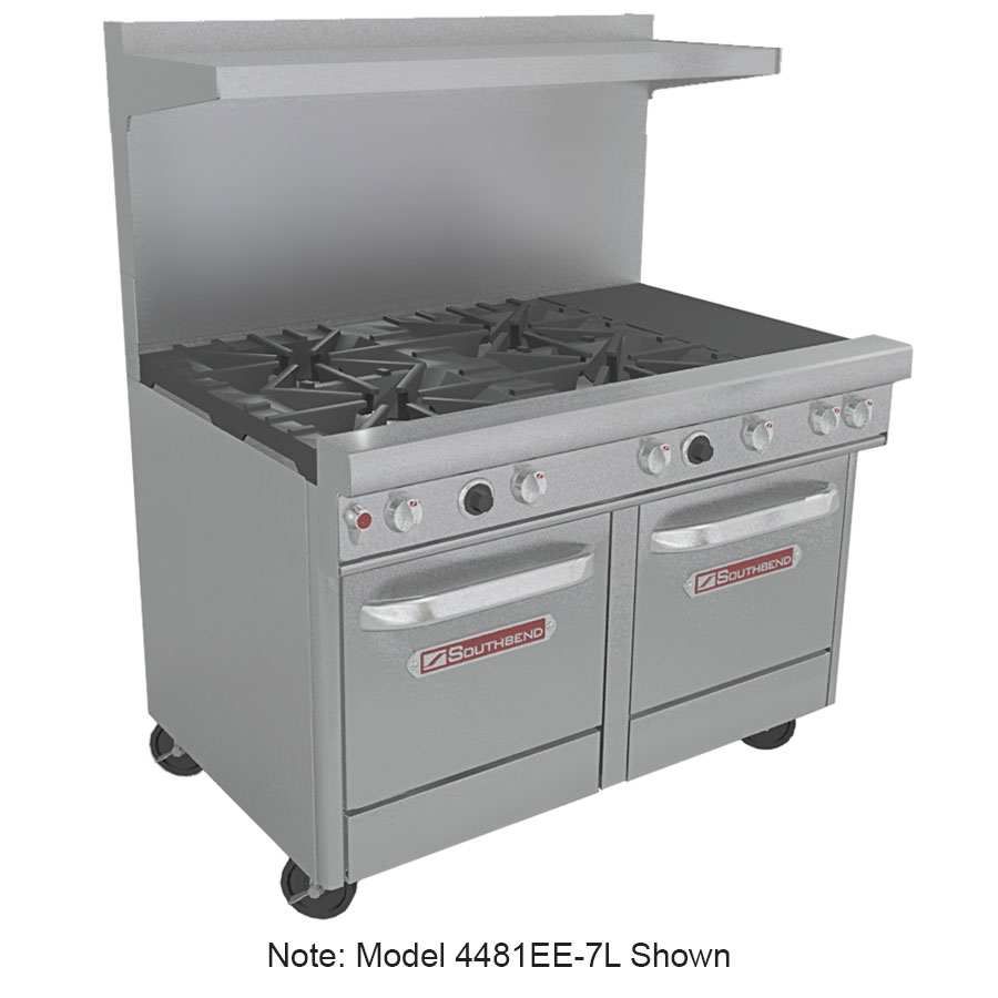 "Southbend 4481EE-3CL 48"" 2-Burner Gas Range with Charbroiler, LP"