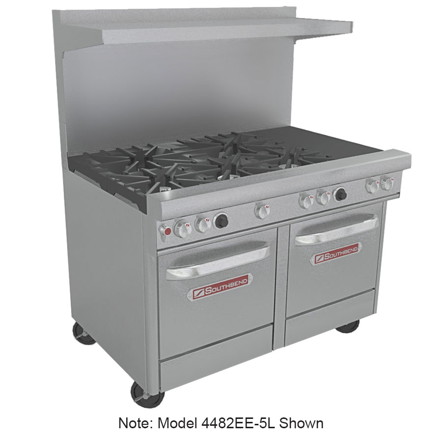 "Southbend 4482EE-2CL 48"" 4-Burner Gas Range with Charbroiler, LP"