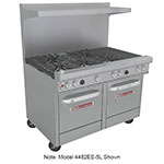 "Southbend 4483EE-2CL 48"" 4-Burner Gas Range with Charbroiler, LP"