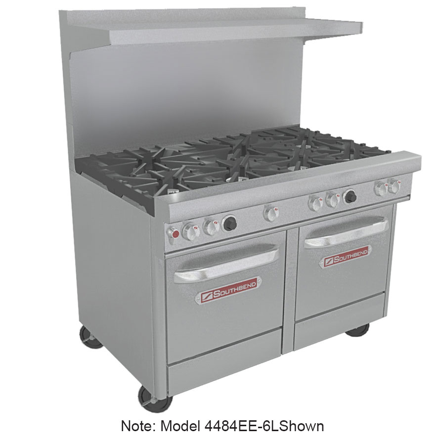"Southbend 4484EE-3CL 48"" 2-Burner Gas Range with Charbroiler, LP"