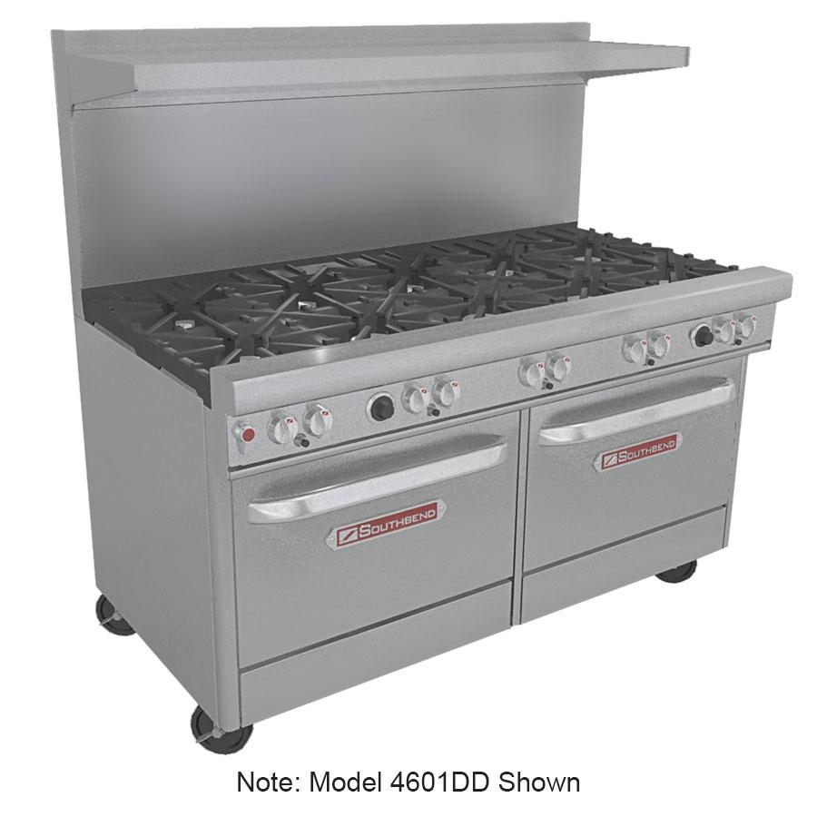 """Southbend 4601DD-2GL 60"""" 6-Burner Gas Range with Griddle, LP"""