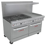 "Southbend 4601DD-2GR 60"" 6-Burner Gas Range with Griddle, LP"