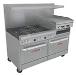 "Southbend 4601DD-2RR 60"" 6-Burner Gas Range with Griddle & Broiler, LP"