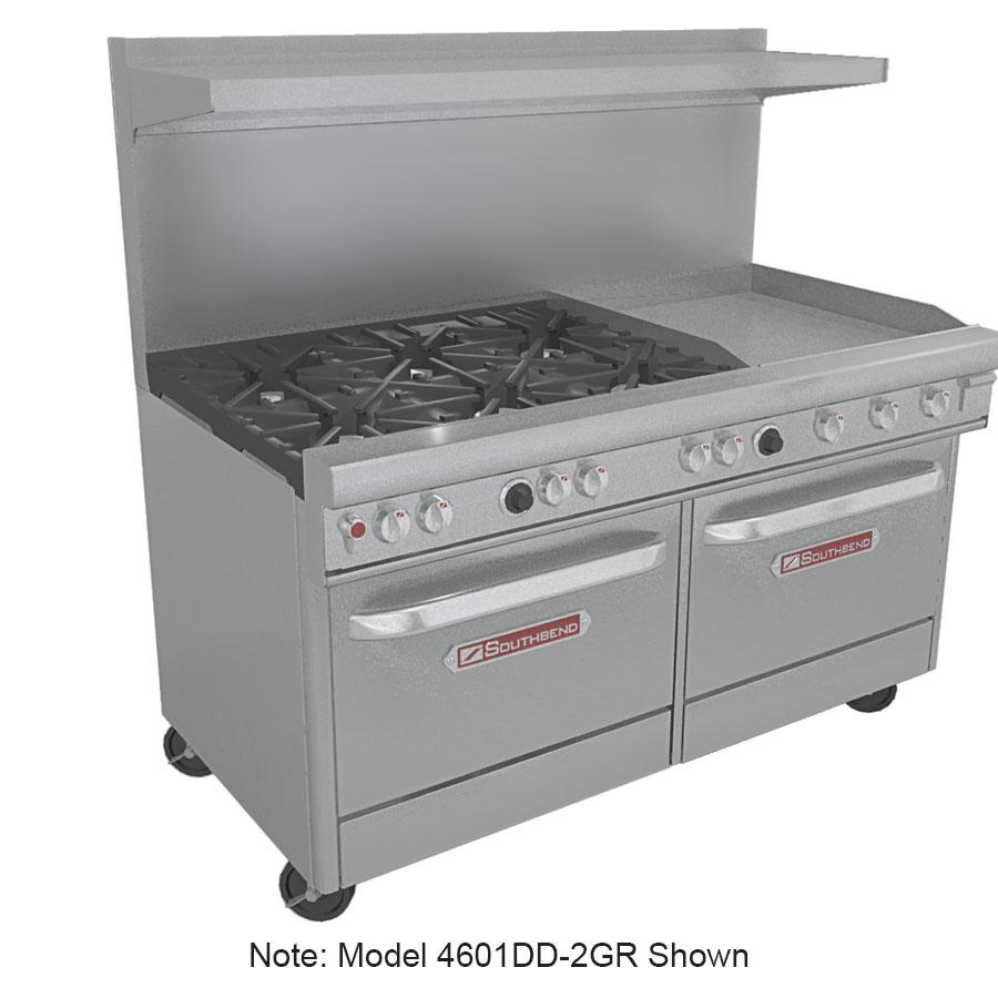 """Southbend 4601DD-3GR 60"""" 4-Burner Gas Range with Griddle, LP"""