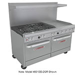 "Southbend 4601DD-4GR 60"" 2-Burner Gas Range with Griddle, LP"