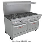 "Southbend 4601DD-4TR 60"" 2-Burner Gas Range with Griddle, LP"