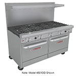 "Southbend 4602AA-2CR 60"" 6-Burner Gas Range with Charbroiler, LP"