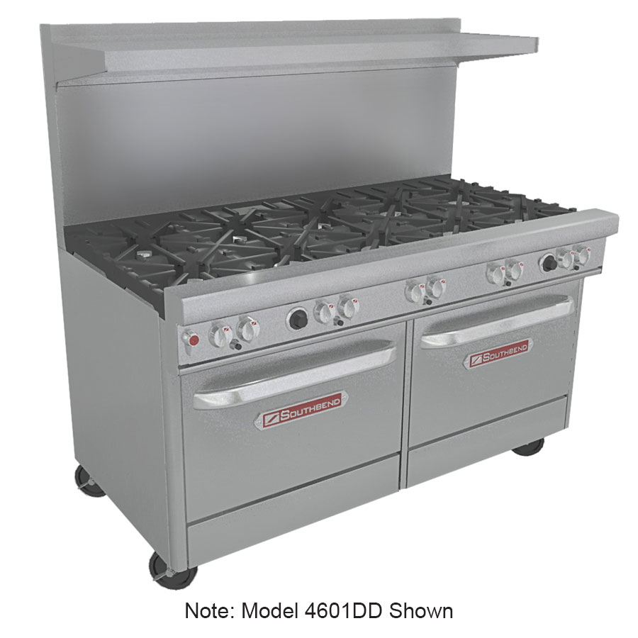 "Southbend 4602AA-2TR 60"" 6-Burner Gas Range with Griddle, LP"